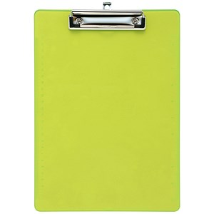 Image of 5 Star Plastic Clipboard / Durable with Rounded Corners / A4 / Lime Green