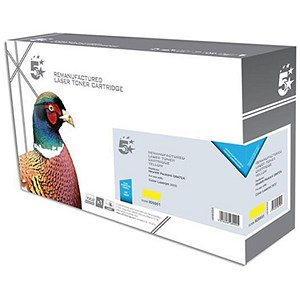 Image of 5 Star Compatible - Alternative to HP 502A Yellow Laser Toner Cartridge