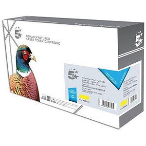 Image of 5 Star Compatible - Alternative to HP 124A Yellow Laser Toner Cartridge