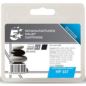Image of 5 Star Compatible - Alternative to HP 337 Black Ink Cartridge