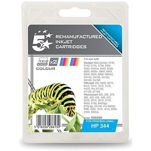 Image of 5 Star Compatible - Alternative to HP 344 Colour Ink Cartridges (Twin Pack)