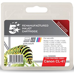 Image of 5 Star Compatible Inkjet Cartridge Page Life 308pp Colour [Canon CL-41 Alternative]