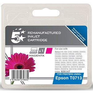 Image of 5 Star Compatible - Alternative to Epson T0713 Magenta Inkjet Cartridge