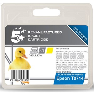 Image of 5 Star Compatible - Alternative to Epson T0714 Yellow Inkjet Cartridge