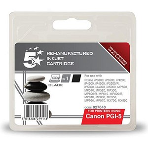 Image of 5 Star Compatible - Alternative to Canon PGI-5BK Black Inkjet Cartridge