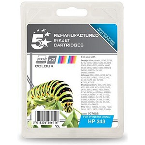 Image of 5 Star Compatible - Alternative to HP 343 Colour Ink Cartridges (Twin Pack)