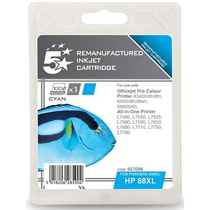 Image of 5 Star Compatible - Alternative to HP 88XL Cyan Ink Cartridge