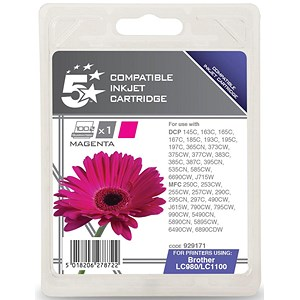 Image of 5 Star Compatible - Alternative to Brother LC1100M Magenta Inkjet Cartridge