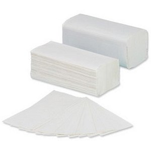 Image of 5 Star V-Fold Recycled Hand Towels / 2-Ply / White / 3200 Sheets