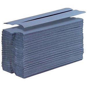 Image of 5 Star Hand Towels / C-Fold / Blue / 20 Sleeves of 140 Towels
