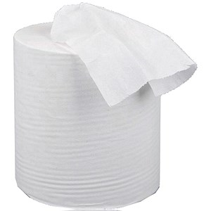 Image of 5 Star Centrefeed Tissue Refill / Single Ply / White / 12 Rolls