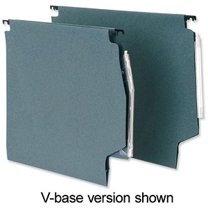 Image of 5 Star Manilla Lateral Files with Clear Tabs & Inserts / 330mm Width / Green / Pack of 50
