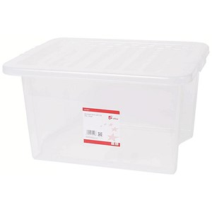 Image of 5 Star Storage Box / Stackable / Clear / 35 Litre