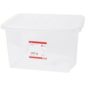 Image of 5 Star Storage Box / Clear Plastic / 24 Litre