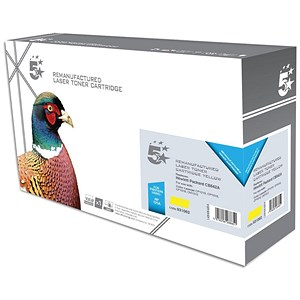 Image of 5 Star Compatible - Alternative to HP 125A Yellow Laser Toner Cartridge