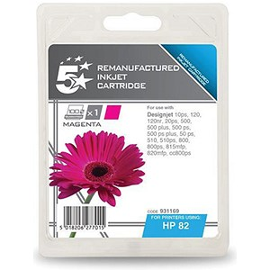 Image of 5 Star Compatible - Alternative to HP 82 Magenta Ink Cartridge