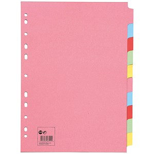 Image of 5 Star Subject Dividers / 10-Part / A4 / Assorted / Pack of 10