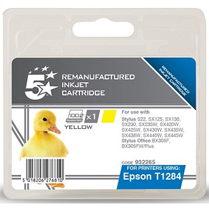 Image of 5 Star Compatible - Alternative to Epson T1284 Yellow Inkjet Cartridge