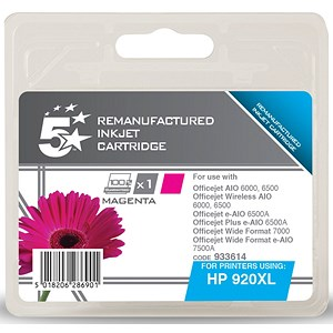 Image of 5 Star Compatible - Alternative to HP 920XL Magenta Ink Cartridge