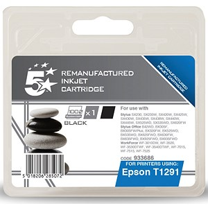 Image of 5 Star Compatible - Alternative to Epson T1291 Black Inkjet Cartridge