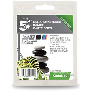 Image of 5 Star Compatible - Alternative to Kodak 10B/10C Black and Colour Inkjet Cartridges (Twin Pack)