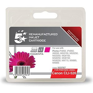 Image of 5 Star Compatible - Alternative to Canon CLI-526M Magenta Inkjet Cartridge