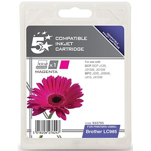 Image of 5 Star Compatible - Alternative to Brother LC985M Magenta Inkjet Cartridge
