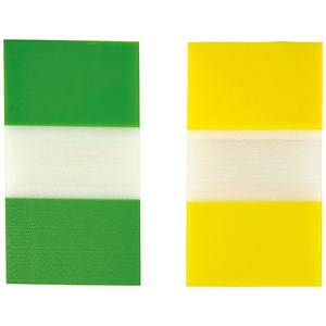 Image of 5 Star Index Flags / Yellow & Green / Pack of 2 x 50