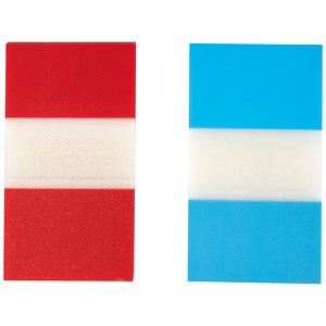 Image of 5 Star Index Flags / Red & Blue / Pack of 2 x 50