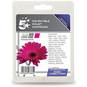 Image of 5 Star Compatible - Alternative to Brother LC1100HYM Magenta Inkjet Cartridge