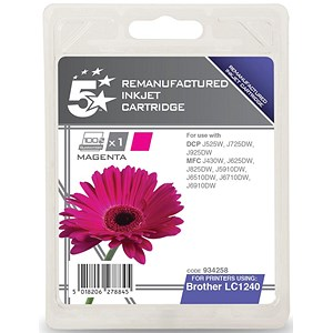 Image of 5 Star Compatible - Alternative to Brother LC1240M Magenta Inkjet Cartridge
