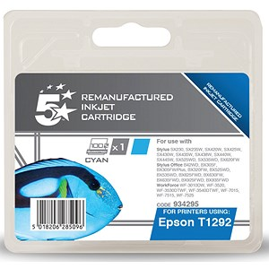 Image of 5 Star Compatible - Alternative to Epson T1292 Cyan Inkjet Cartridge