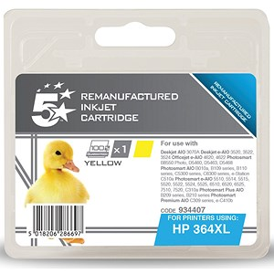 Image of 5 Star Compatible - Alternative to HP 364XL Yellow Ink Cartridge