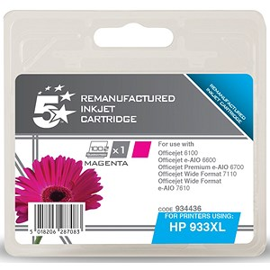 Image of 5 Star Compatible - Alternative to HP 933XL Magenta Ink Cartridge