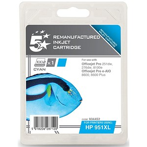 Image of 5 Star Compatible - Alternative to HP 951XL Cyan Ink Cartridge