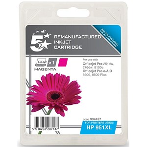 Image of 5 Star Compatible - Alternative to HP 951XL Magenta Ink Cartridge