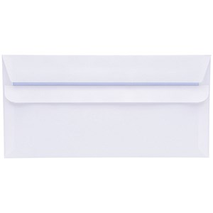 Image of 5 Star Plain DL Envelopes / White / Press Seal / 80gsm / Pack of 50