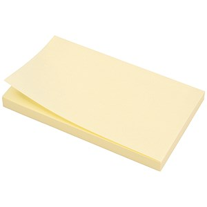 Image of 5 Star Extra Sticky Re-move Notes / 76x127mm / Yellow / Pack of 12 x 90 Notes