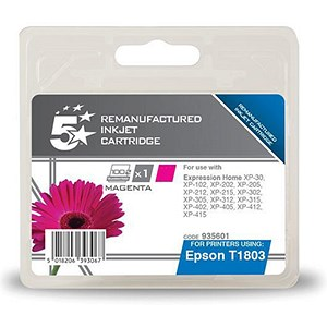 Image of 5 Star Compatible - Alternative to Epson T1803 Magenta Inkjet Cartridge