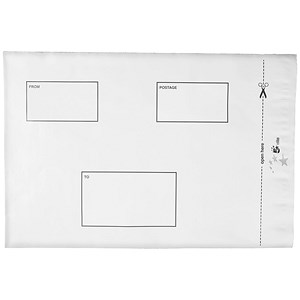 Image of 5 Star C4 Opaque Polythene Envelopes / Peel & Seal / Pack of 100