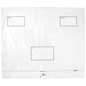 Image of 5 Star Opaque Polythene Envelopes / 440x330mm / Peel & Seal / Pack of 100