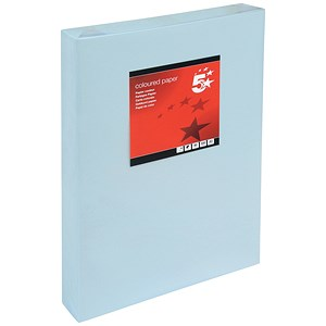 Image of 5 Star A3 Multifunctional Coloured Paper / Light Blue / 80gsm / Ream (500 Sheets)