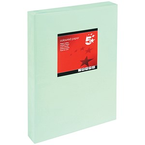 Image of 5 Star A3 Multifunctional Coloured Paper / Light Green / 80gsm / Ream (500 Sheets)
