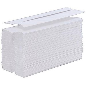 Image of 5 Star C-Fold Hand Towel / White / 15 Sleeves of 200 Towels