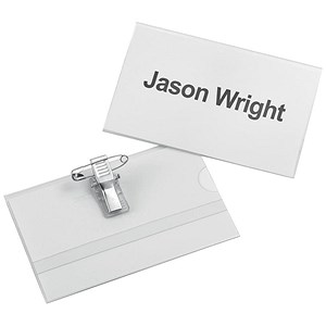 Image of 5 Star Name Badges with Combi-Clip / PVC / 54x90mm / Pack of 25