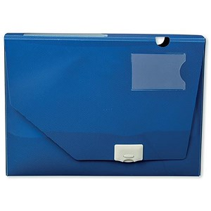 Image of 5 Star Document Box Polypropylene / 60mm / A4 / Blue / Pack of 10