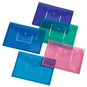 Image of 5 Star Envelope Wallet with CD Filing Pockets / A4 / Assorted / Pack of 5