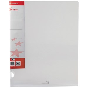 Image of 5 Star Ring Binder / A4 / Translucent / 25mm Capacity / Clear / Pack of 10
