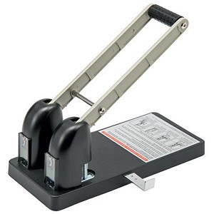 Image of 5 Star Power Heavy-duty 2-Hole Punch / Black & Silver / Punch capacity: 140 Sheets