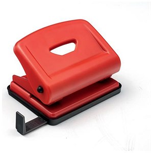 Image of 5 Star 2-Hole Punch / Red / Punch capacity: 22 Sheets